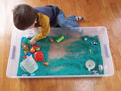Octonauts Sensoy Rice Bin Play