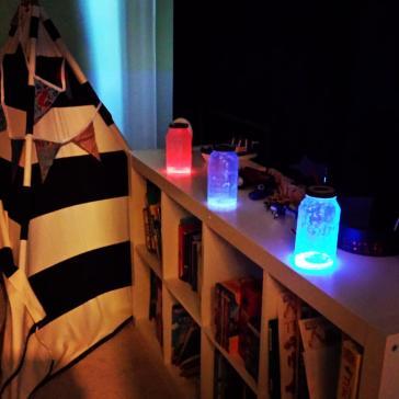 glowstick lanterns