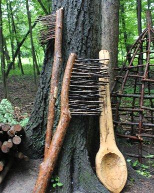Morton Arboretum reclaimed wood trolls