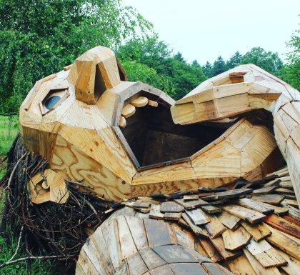 Morton Arboretum reclaimed wood troll