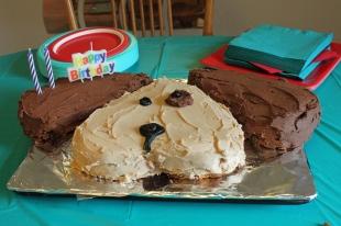 puppy birthday cake
