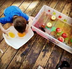 Autumn Apple Sensory Bin