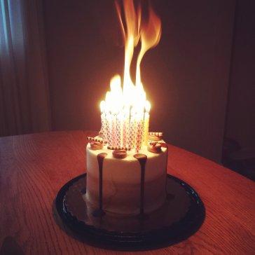 Forty candles birthday cake.jpg