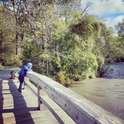 Child on bridge
